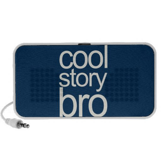 Cool Story Bro Navy Sans Serif iPhone Speaker