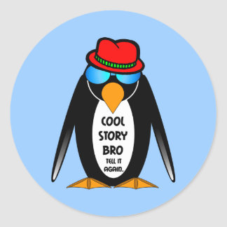 Cool Story Bro Round Stickers