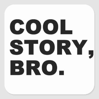 Cool Story Bro Square Stickers