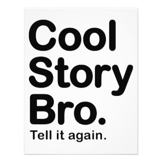 Cool Story Bro. Tell it Again Invitation