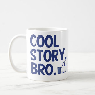 cool story bro thumbs up basic white mug
