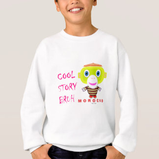 Cool Story Bruh-Cute Monkey-Morocko Sweatshirt