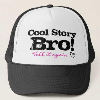 Cool story pink trucker hat