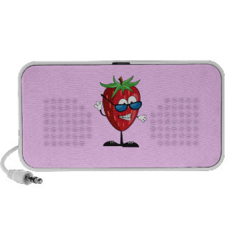 Cool Strawberry Character Doodle Travel Speaker