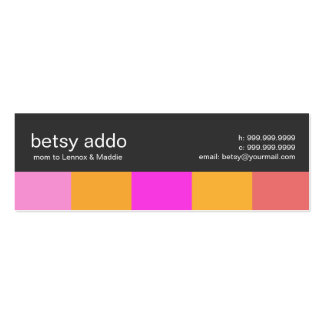 Cool Stripes Mommy Calling Cards Pack Of Skinny Business Cards