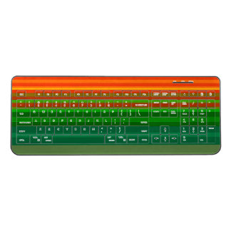 Cool Stripes Vibrant Bold Colorful Watercolor Chic Wireless Keyboard