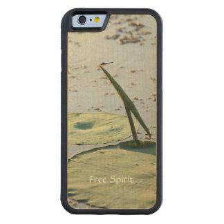 Cool Stylish Free Spirit Dragonfly Custom Handmade Maple iPhone 6 Bumper