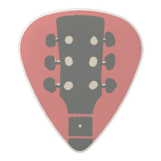 cool & stylish red rock acetal guitar pick