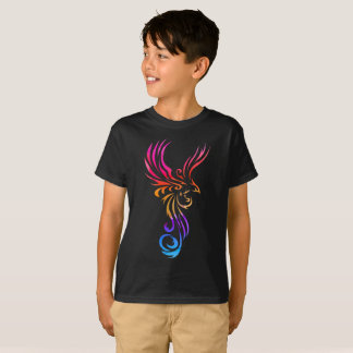 Cool Stylized Phoenix Kids T Shirts