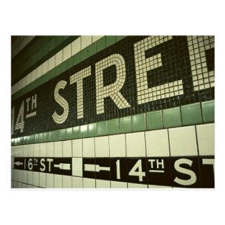 Cool Subway Postcard