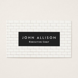 Cool Subway Tile Personal Chef and Catering Business Card