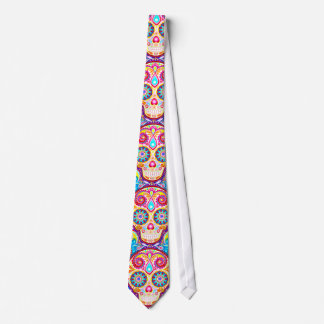 Cool Sugar Skull Tie Day of the Dead