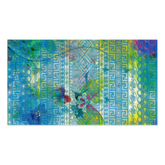 cool summer colours Aztec soft blue pattern Pack Of Standard Business Cards