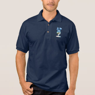 Cool Summer Islands Ocean Beach Palms And Sand Polo Shirt