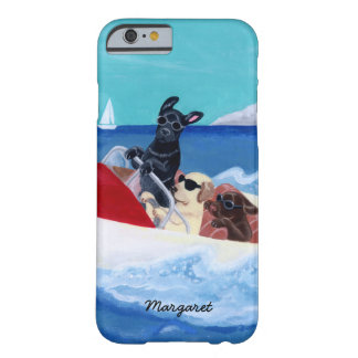 Cool Summer Labradors Painting Barely There iPhone 6 Case