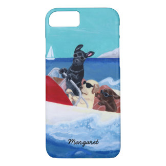 Cool Summer Labradors Painting iPhone 8/7 Case