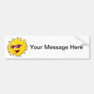 Cool Sun with Sunglasses Bumper Sticker
