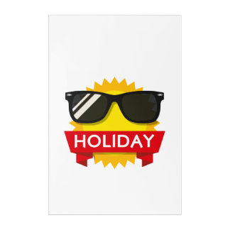 Cool sunglass sun acrylic wall art