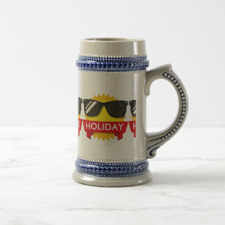 Cool sunglass sun beer stein