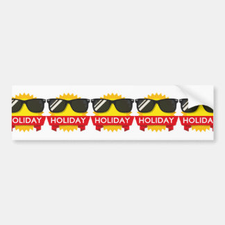 Cool sunglass sun bumper sticker