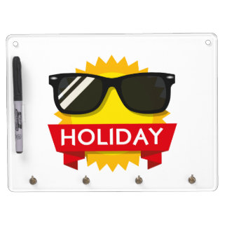Cool sunglass sun dry erase board with key ring holder