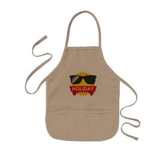 Cool sunglass sun kids apron