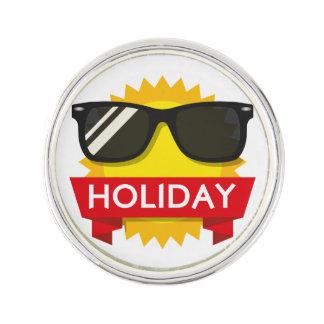 Cool sunglass sun lapel pin