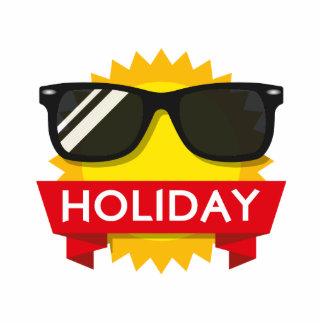 Cool sunglass sun photo sculpture badge