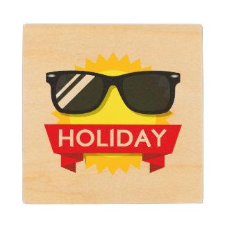 Cool sunglass sun wood coaster