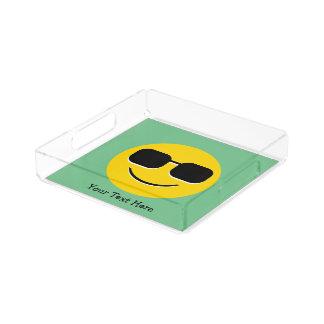 Cool Sunglasses Emoji Acrylic Tray