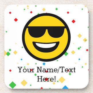 Cool Sunglasses Emoji Coaster