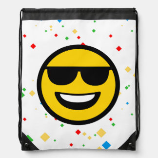 Cool Sunglasses Emoji Drawstring Bag
