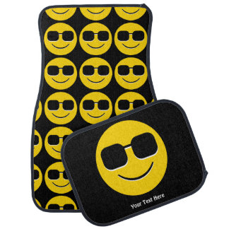 Cool Sunglasses Emoji Guy Car Mat