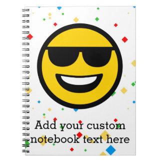 Cool Sunglasses Emoji Notebook