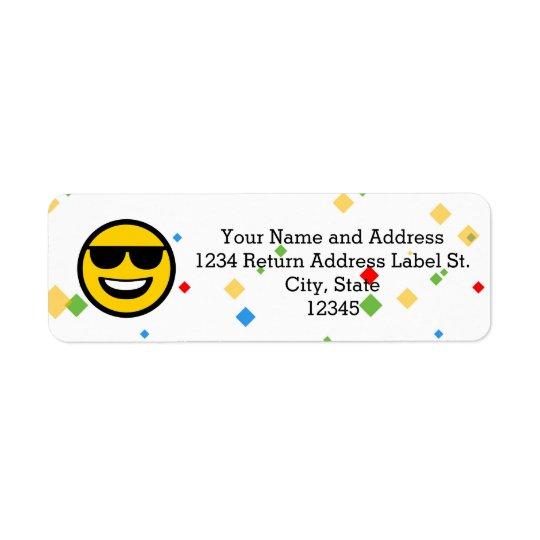 Cool Sunglasses Emoji Return Address Label