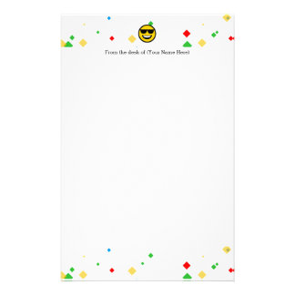 Cool Sunglasses Emoji Stationery