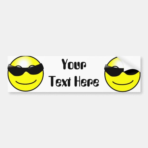 Cool Sunglasses Yellow Smiley Face Bumper Stickers