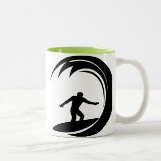 Cool Surfing Two-Tone Coffee Mug