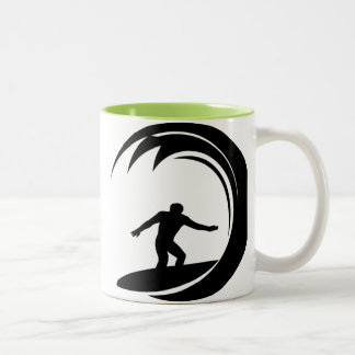 Cool Surfing Two-Tone Mug