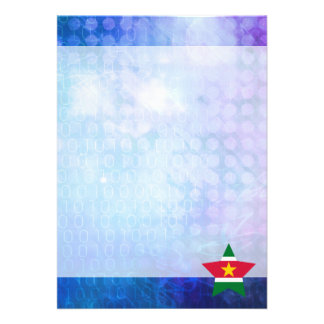 Cool Suriname Flag Star 13 Cm X 18 Cm Invitation Card