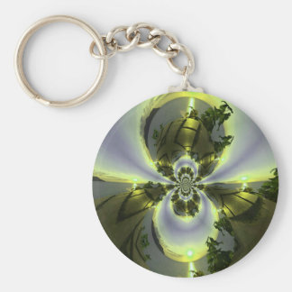 Cool Surreal Fantasy Abstract Key Ring