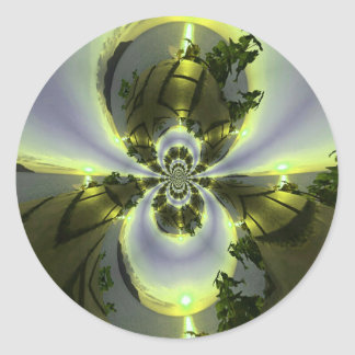 Cool Surreal Fantasy Abstract Round Sticker