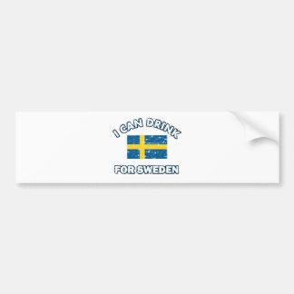 Cool Sweden Drinking Designs Bumper Sticker