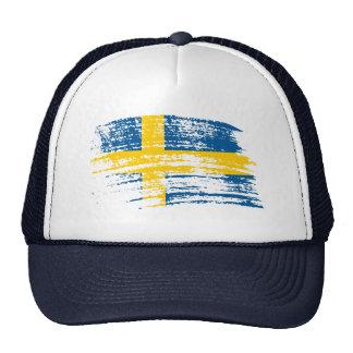 Cool Swedish flag design Mesh Hats