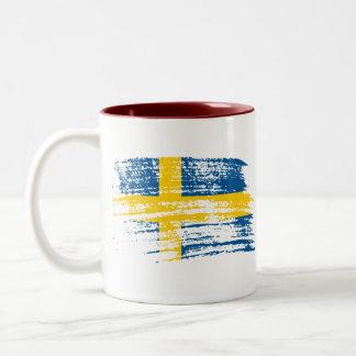 Cool Swedish flag design Coffee Mugs