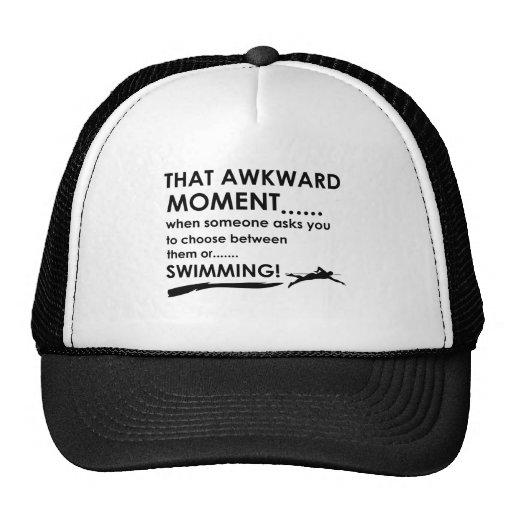 Cool Swimming designs Mesh Hat