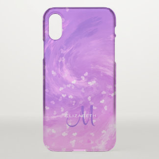 cool swirling hearts purple pink women's iPhone x case