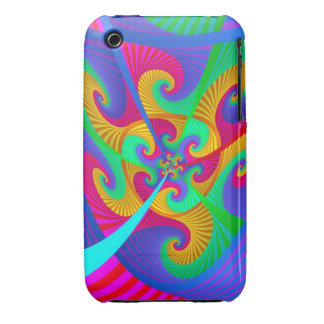 Cool swirling spirals iPhone 3 case