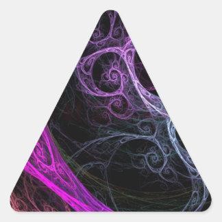 Cool swirls triangle sticker