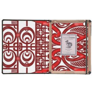 Cool symmetrical tribal Marquesas tattoo design Case For iPad